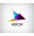 abstract arrow logo icon isolated point vector image vector image