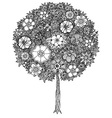 Abstract Tree Drawing vector image vector image
