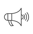 announcement line black icon vector image
