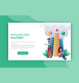 application developer landing page vector image