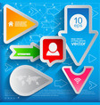 arrows and bubbles signs set vector image vector image