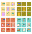 assembly flat icons school lessons vector image vector image