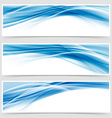 Beautiful hi-tech blue header footer swoosh vector image vector image