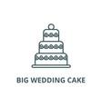 big wedding cake line icon big wedding vector image vector image