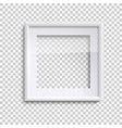 blank white picture frame with glass square empty vector image vector image