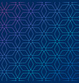blue background with abstract geometric pattern vector image vector image
