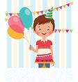 Boy celebrating his birthday vector image vector image