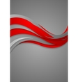 Bright red grey wavy abstract corporate background vector image vector image