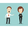 Businessman yelling at crying female colleague vector image vector image