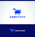 car store abstract sign symbol or logo vector image