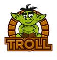 cartoon troll mascot vector image