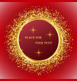celebratory design element golden shiny circles on vector image