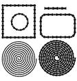 Chain Frames Spirals Set vector image