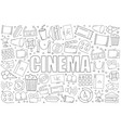 cinema background from line icon vector image
