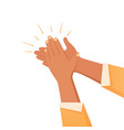 clapping hands gesture composition vector image vector image