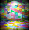 Club room with triangled wallpaper vector image