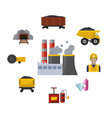 coal mining industry and transportation vector image