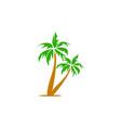 coconut tree icon logo design template vector image vector image