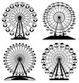 collection of park ferris wheels vector image vector image