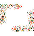 colored dots with square white shape in the vector image