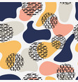 colorful seamless pattern with abstract shapes vector image