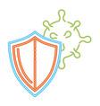 coronavirus 2019 ncov protection shield icon vector image vector image