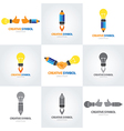 Creative symbol set vector image