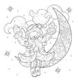 cute christmas Santa Claus doodle vector image vector image