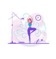 cute girl practicing yoga vector image vector image