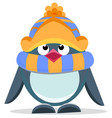 cute hand drawn penguin 4 vector image vector image