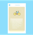 cycle mobile vertical banner design design vector image vector image