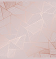 decorative background with rose gold imitation vector image vector image