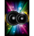 Disco club flyer with black speaker vector image vector image