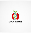 dna fruit logo design concept element icon vector image vector image
