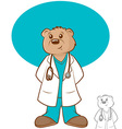 Doctor Bear vector image vector image