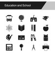 education and school icons design for vector image vector image