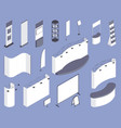 expo stand template isometric set vector image
