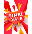 final sale banner template header design design vector image vector image
