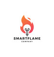 fire flame lamp bulb logo icon vector image vector image