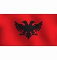 flag of albania - vector image vector image