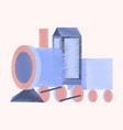 flat shading style icon toy train vector image vector image