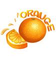 Font design for word orange vector image vector image