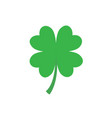 four leaf clover icon in flat style vector image vector image
