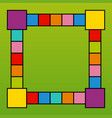 frame design with colorful squares vector image