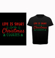 funny christmas graphic print typography vector image vector image