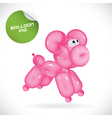 Glossy Balloon Dog vector image