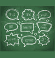 hand-drawn speech and thought bubbles hand drawn vector image vector image
