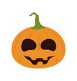 happy halloween funny pumpkin trick or treat vector image