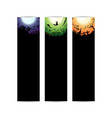 happy halloween party curve circle gradient banner vector image