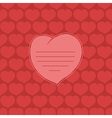 heart on red background vector image vector image
